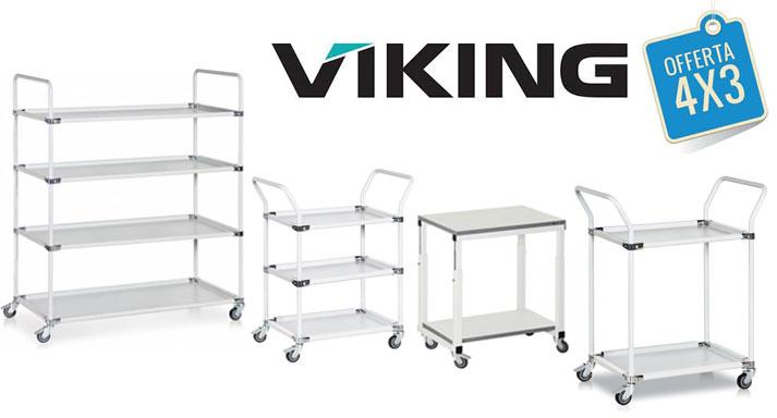 Promozione 4×3 sui Carrelli ESD Viking  | Fino a Giugno 2018