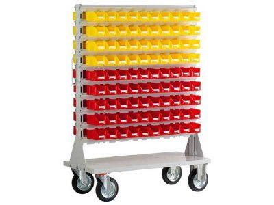 Carrello scaffale FAM-180 con 180 contenitori