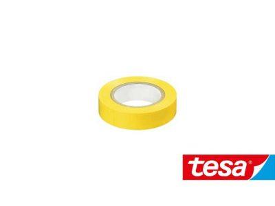 Nastro isolante Tesa Giallo in PVC autoestinguente (2 formati, Cf 10pz)
