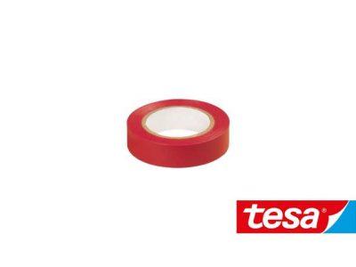 Nastro isolante Tesa Rosso in PVC autoestinguente (2 formati, Cf 10pz)