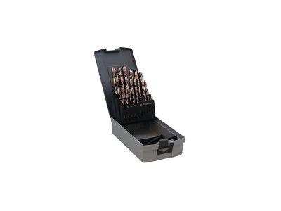 Set 19 punte elicoidali in cassetta (Ø 1/10mm)