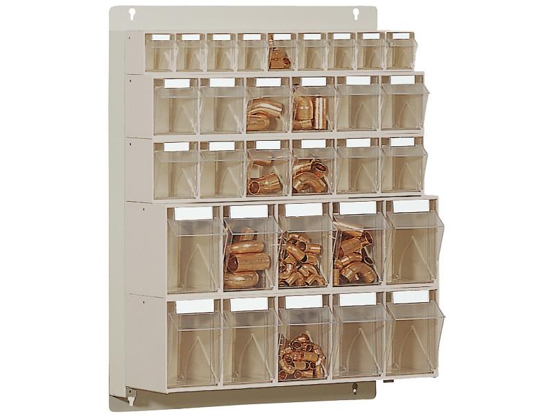 STF31 Scaffale portaminuteria 31 cassetti Stala Flexi - Montaggio a muro