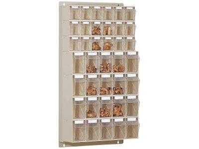 STF38 Scaffale portaminuteria 38 cassetti Stala Flexi - Montaggio a muro