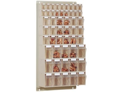 STF51 Scaffale portaminuteria 51 cassetti Stala Flexi - Montaggio a muro