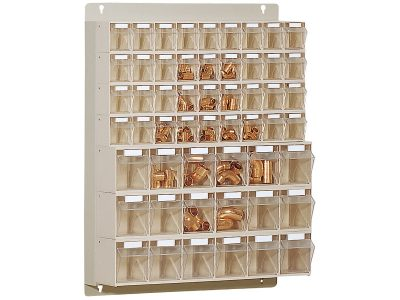 STF51 Scaffale portaminuteria 54 cassetti Stala Flexi - Montaggio a muro