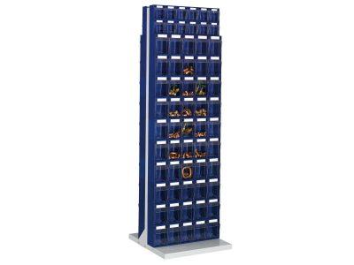 STTE124 Scaffale portaminuteria con 124 cassetti su 2 lati - Serie Stala Top