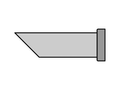 LTDD45 Weller - Punta saldante taglio sbieco 45°