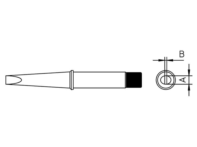 CT6C7 Punta a cacciavite 370°C per saldatore Weller | 4CT6C7-1
