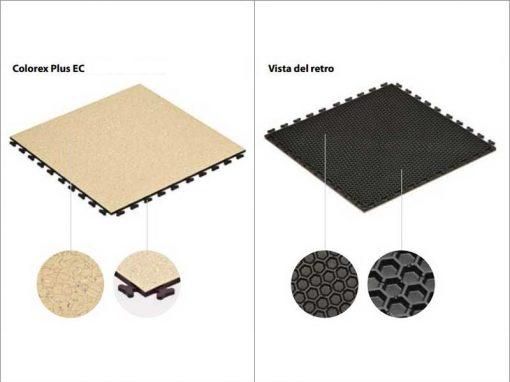 Piastrelle autoposanti Colorex EC Plus: sistema di giunzione e struttura portante
