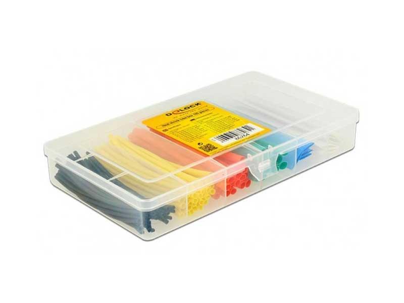 Guaina termorestringente pretagliata - Kit 100 tubi colorati