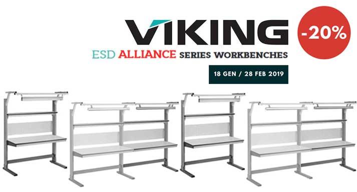 Offerta banchi da lavoro Alliance ESD