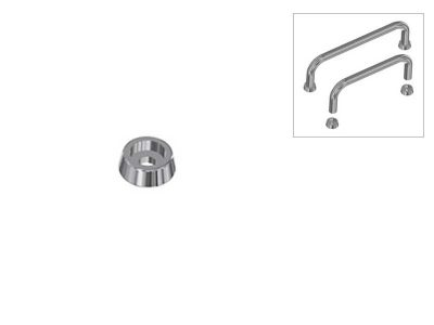 BOM1 Boccole per maniglie in acciaio (Ø8mm)