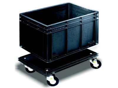 Carrello conduttivo 4 ruote per cassette Newbox ESD (600x400mm)