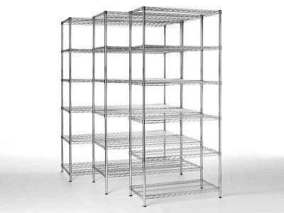 ESD rack with 6 shelves (3 sizes)