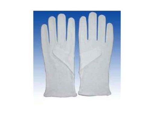 Guanti bianchi da lavoro in tessuto di cotone e poliestere