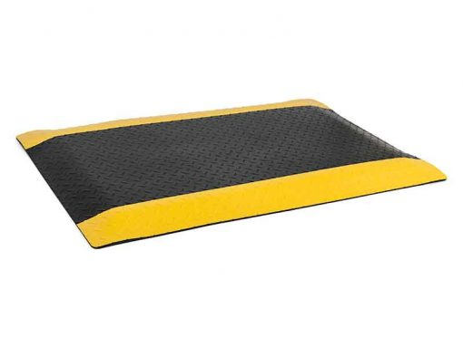 ESD Anti Fatigue Floor Mat, Yellow/Black Rubber (2 sizes)