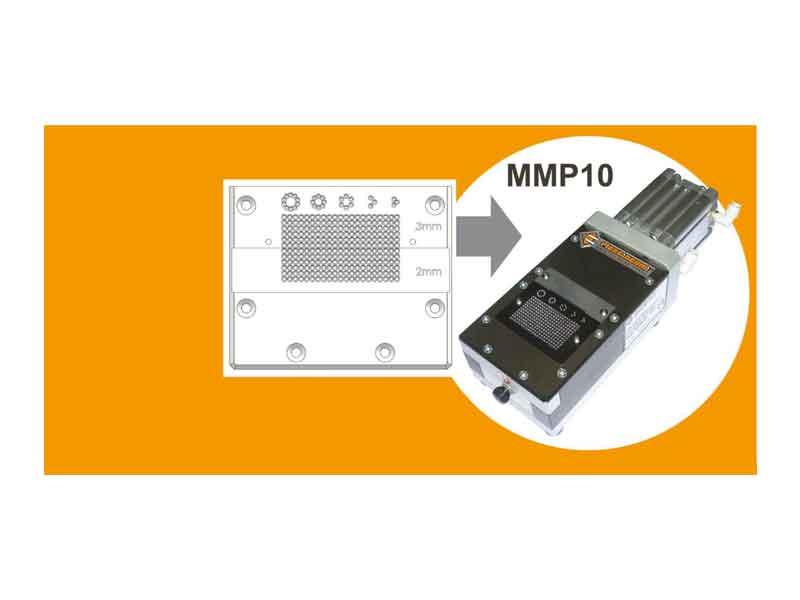 Piastra di taglio speciale multi-altezza per troncatrice MMP 10 Piergiacomi
