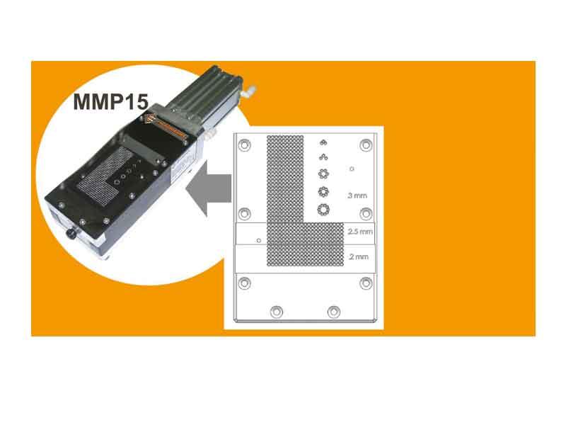 Piastra di taglio speciale multi-altezza per troncatrice MMP 15 Piergiacomi