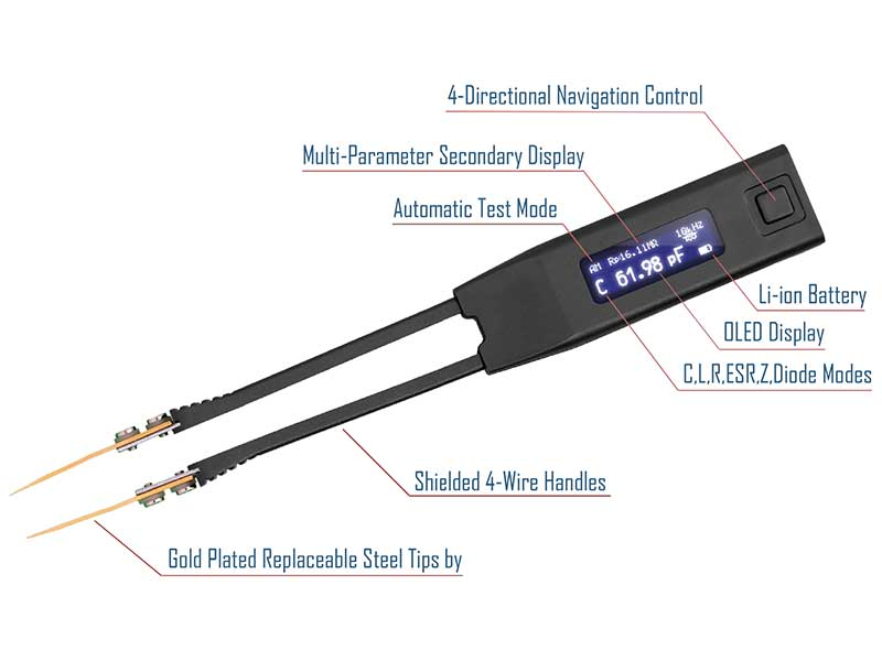 Smart Tweezers ST5S - Pinza tester SMD - Misuratore LCR