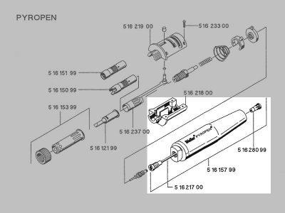 Weller 7001UM Impugnatura/serbatoio Pyropen | T0051615799