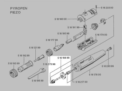 8017U Valvola a gas per Pyropen Piezo Weller   T0051619899