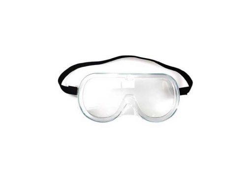Occhiali protettivi in plastica EN 166 con banda elastica