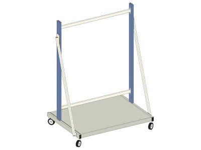 Carrello industriale El.Mi WB-Plus Blu (120x75 156/200h cm)