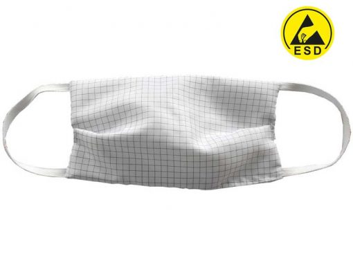 Mascherina antistatica ESD per aree EPA e Cleanroom