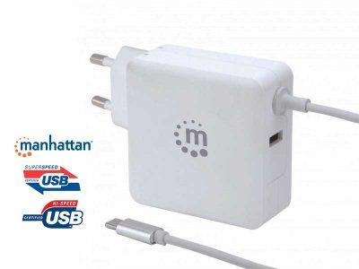 Caricatore multiplo USB 2.0 con cavo USB-C PD (60W)