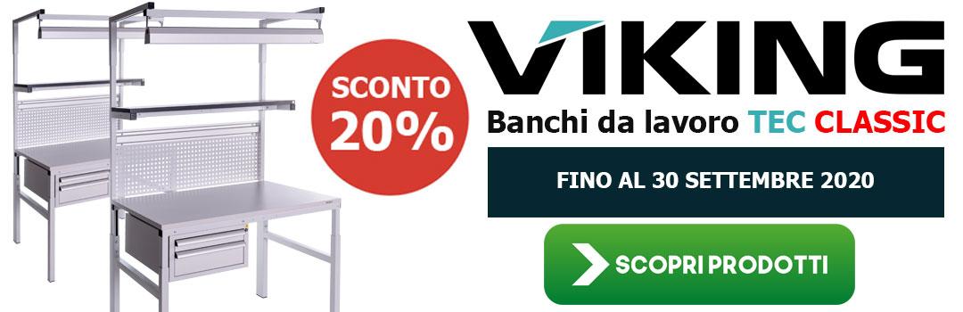 Promo 2020 | Banchi da lavoro Viking Classic linea TEC