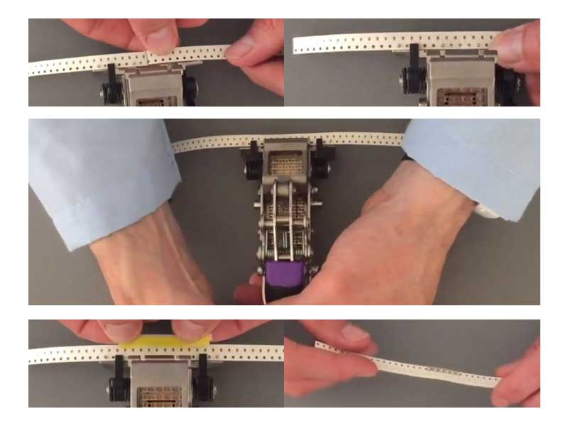 ST01 Pinzatrice per splice tape con pin di posizionamento