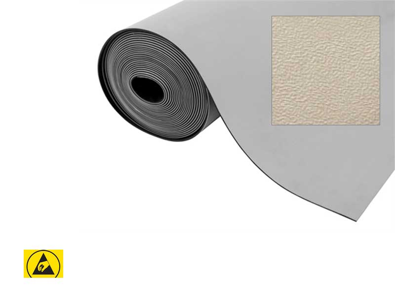 Tappeto antistatico da banco Bucciato Grigio in rotoli (150cmx10m)