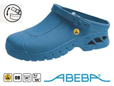 39610 Abeba Blu - Zoccoli Sabot professionali antistatici ESD Autoclavabili Antiscivolo (36-46)