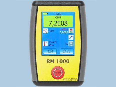 RM1000 Tester ESD per la misurazione di resistenza superficiale, resistenza di volume e resistenza verso terra