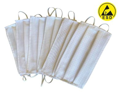 Mascherina antistatica ESD lavabile Bianco