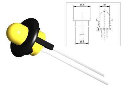 GPL60 Portaled a pressione Nero per led Ø5mm