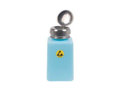 Flacone dispenser ESD Azzurro con erogatore a pompa (200ml)