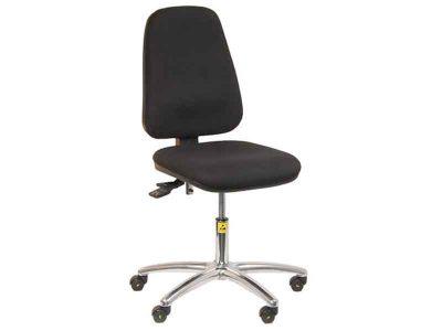 Sedia ESD antistatica Professional con schienale alto (Ruote, H42/57cm)
