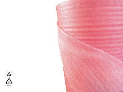 Bobina di polietilene espanso antistatico ESD Rosa (H60/120cm x 150m)