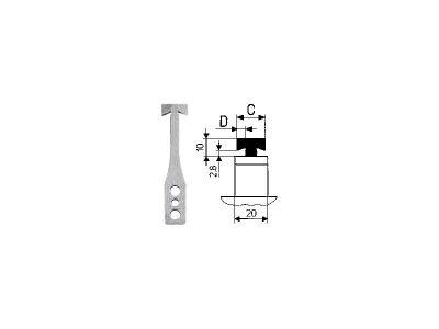 Lama a T per depannellizzatore HEKTOR 2 CAB (1.5-2.0-2.4-2.5-3.0 mm)